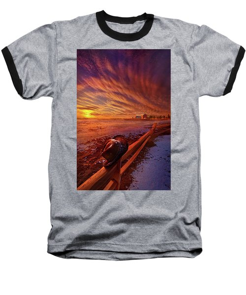 Baseball T-Shirt featuring the photograph Only This Moment In Between Before And After by Phil Koch