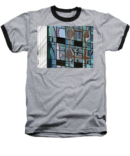 Baseball T-Shirt featuring the photograph Op Art Windows I by Marianne Campolongo