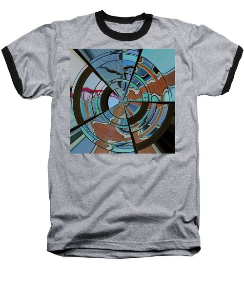 Baseball T-Shirt featuring the photograph Op Art Windows Orb by Marianne Campolongo