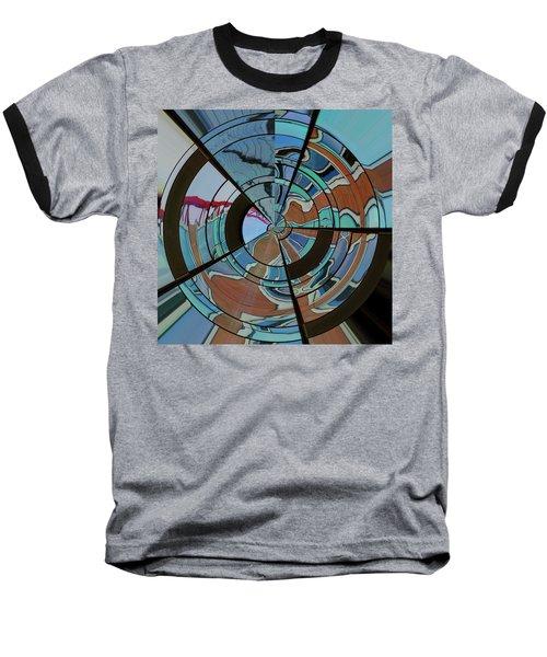 Op Art Windows Orb Baseball T-Shirt
