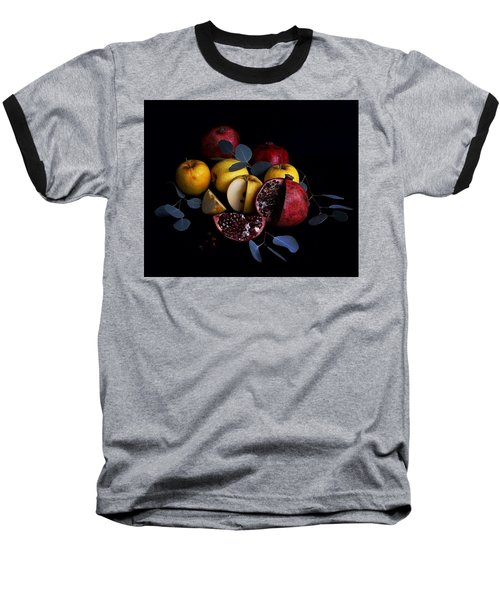 Opal Apples And Pomegranates Baseball T-Shirt