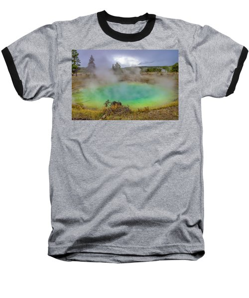 Opal Spring Yellowstone National Park Baseball T-Shirt