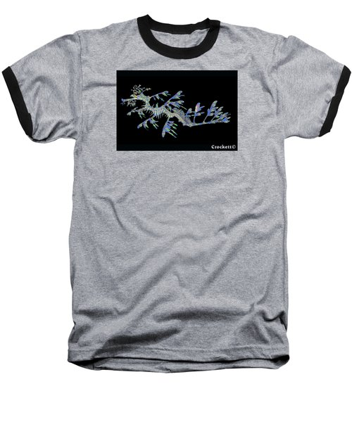 Baseball T-Shirt featuring the photograph Opalised Sea Dragon by Gary Crockett