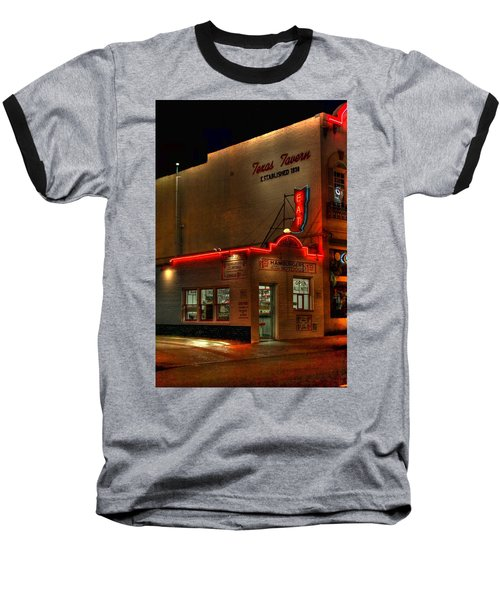 Open All Nite-texas Tavern Baseball T-Shirt