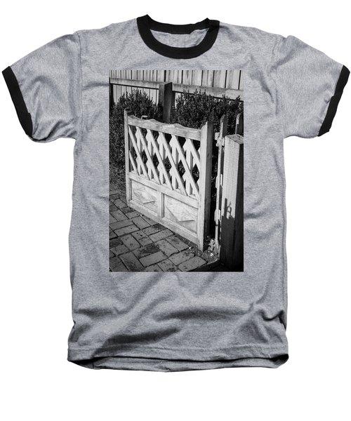 Open Garden Gate B W Baseball T-Shirt