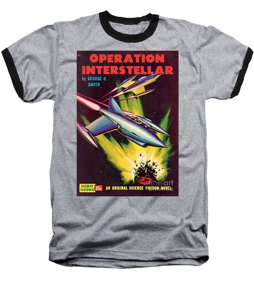 Baseball T-Shirt featuring the painting Operation Interstellar by Malcolm Smith