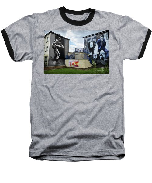 Baseball T-Shirt featuring the photograph Operation Motorman Mural In Derry by RicardMN Photography