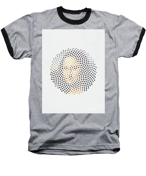 Baseball T-Shirt featuring the digital art Optical Illusions - Famous Work Of Art 1 by Klara Acel