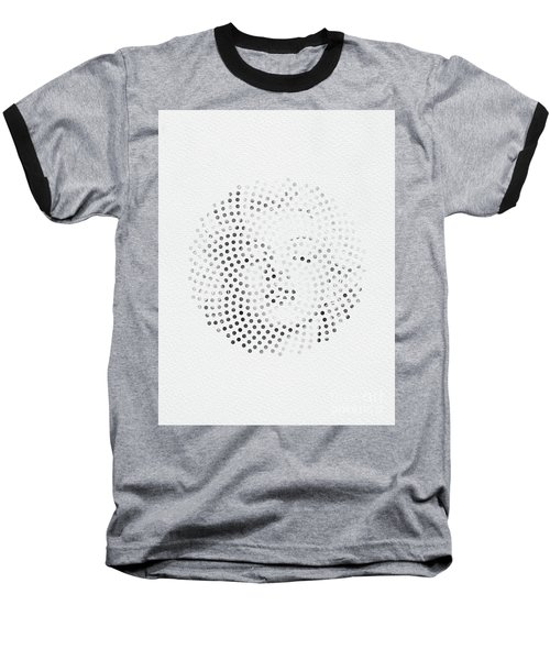 Baseball T-Shirt featuring the digital art Optical Illusions - Iconical People 1 by Klara Acel