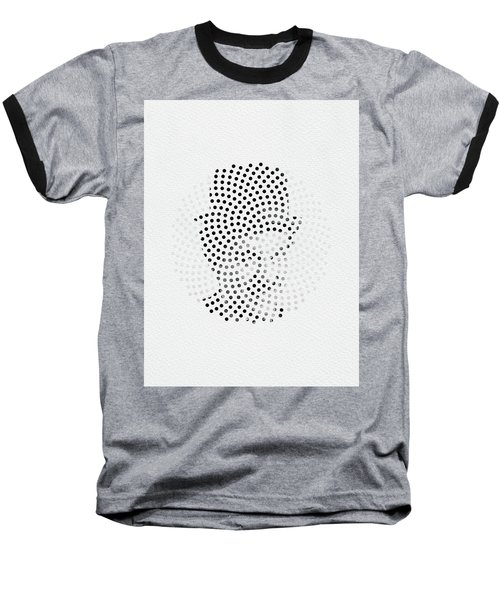 Baseball T-Shirt featuring the digital art Optical Illusions - Iconical People 2 by Klara Acel