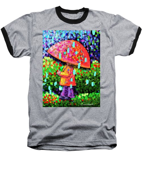 Rainy Day Stroll Baseball T-Shirt by Dani Abbott