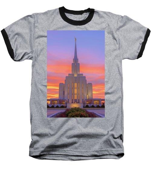 Oquirrh Mountain Temple IIi Baseball T-Shirt