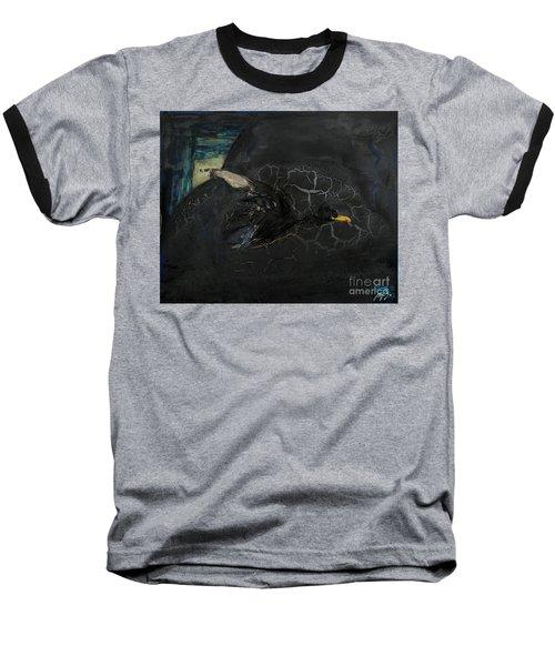 Oracular Inquiry - Ecological Footprint - Drilling Permits - Crude Oil Offshore Energy - Das Orakel Baseball T-Shirt