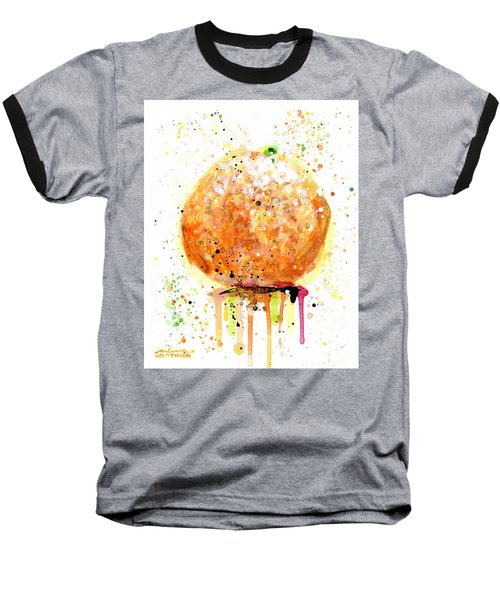 Orange 2 Baseball T-Shirt by Arleana Holtzmann