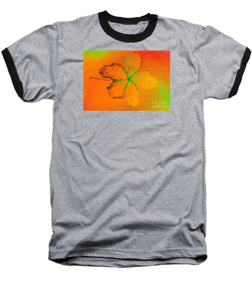 Orange Abstract Flower By Jasna Gopic Baseball T-Shirt by Jasna Gopic