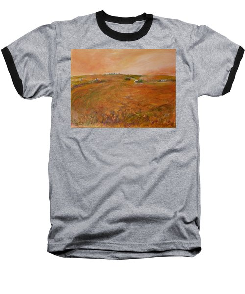 Orange Afternoon  Baseball T-Shirt by Helen Campbell