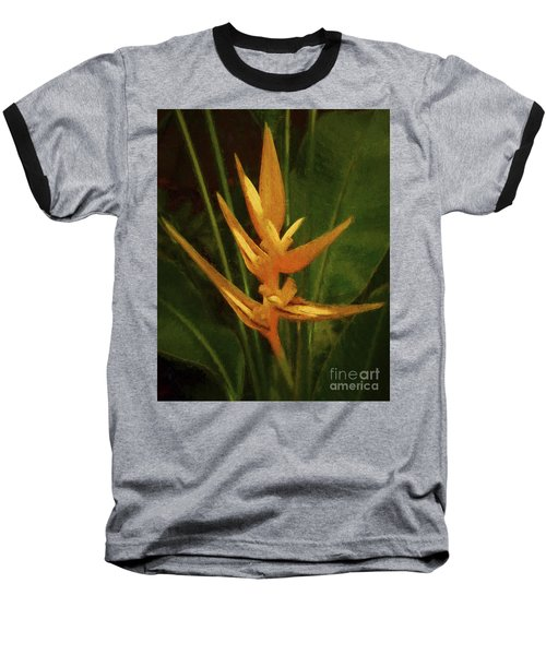 Orange Art Baseball T-Shirt