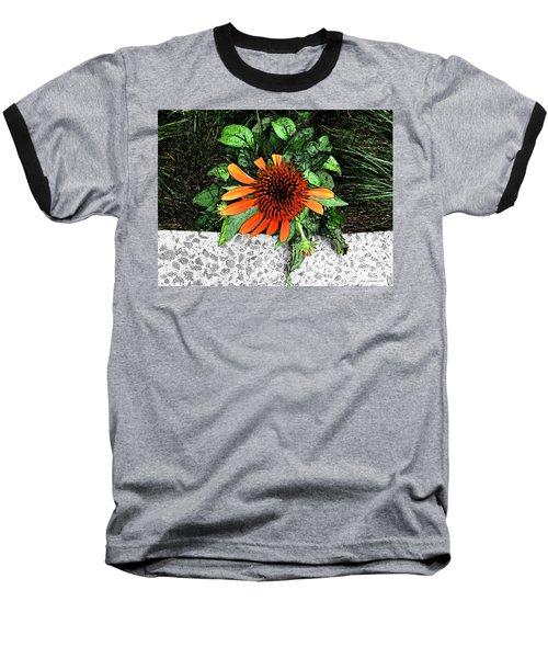Baseball T-Shirt featuring the photograph Orange At Highline Nyc by Joan  Minchak