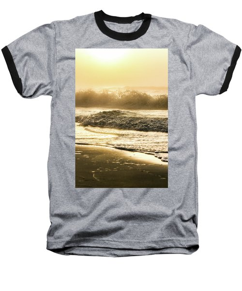 Baseball T-Shirt featuring the photograph Orange Beach Sunrise With Wave by John McGraw