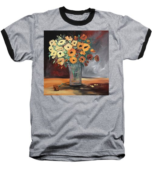 Orange Blossoms Baseball T-Shirt by Terri Einer