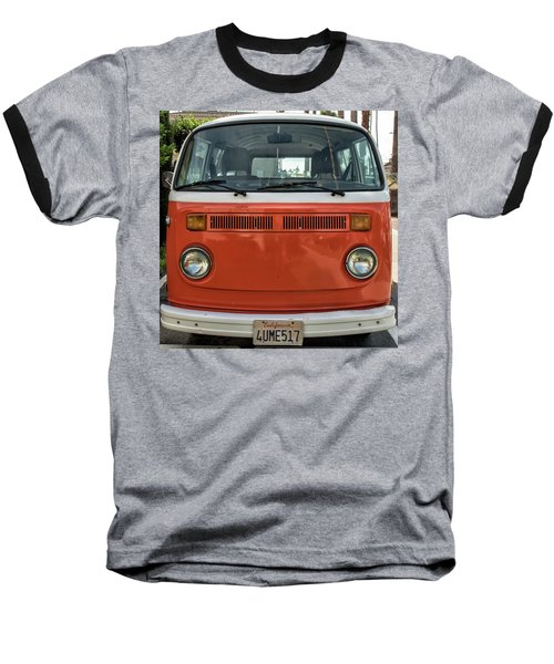 Orange Bus Baseball T-Shirt
