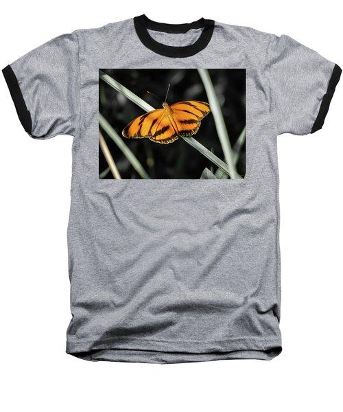 Orange Butterfly Baseball T-Shirt