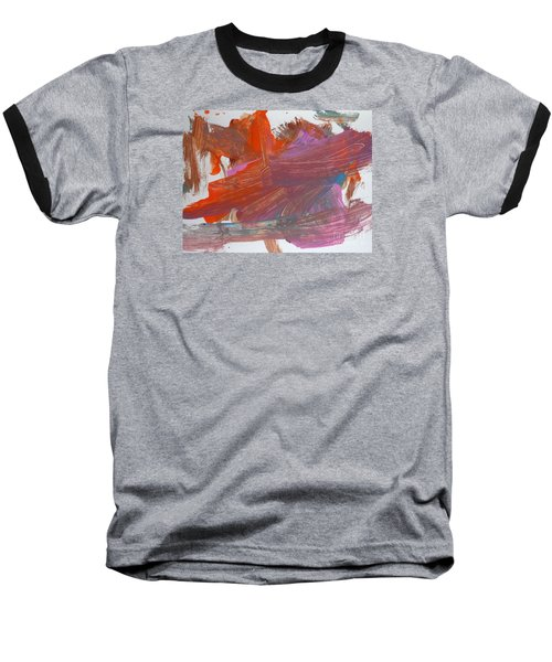 Baseball T-Shirt featuring the painting Orange By Emma by Fred Wilson