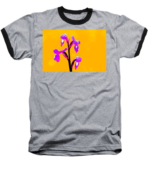 Orange Champagne Orchid Baseball T-Shirt
