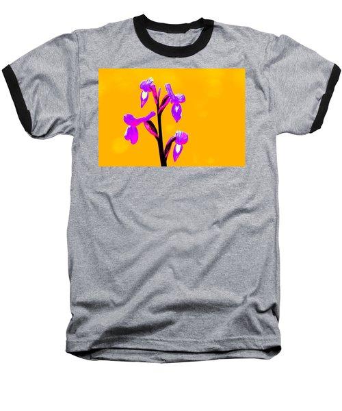 Orange Champagne Orchid Baseball T-Shirt by Richard Patmore