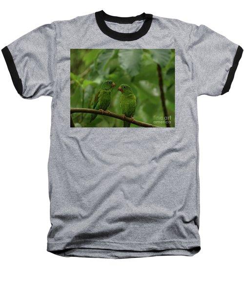 Orange-chinned Parakeets-  Baseball T-Shirt
