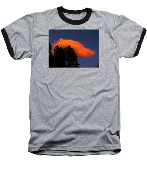 Orange Cloud Baseball T-Shirt