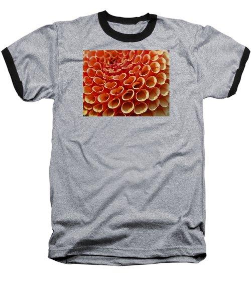 Orange Dahlia Crush Baseball T-Shirt