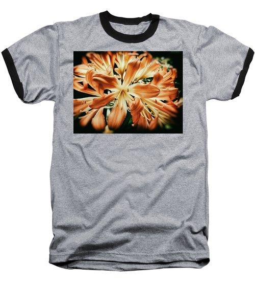 Orange Crush Baseball T-Shirt by Karen Stahlros
