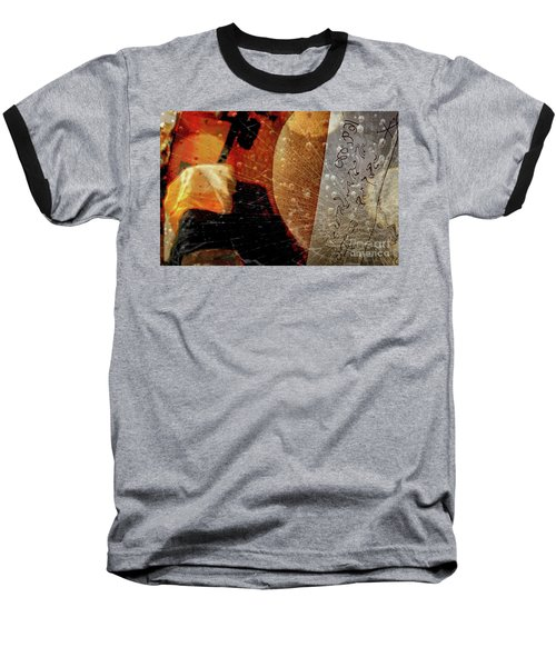 Orange Crush Baseball T-Shirt by Kathie Chicoine