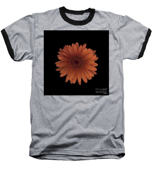 Orange Daisy Front Baseball T-Shirt