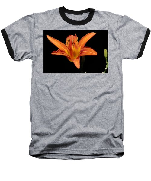 Orange Day-lily Baseball T-Shirt