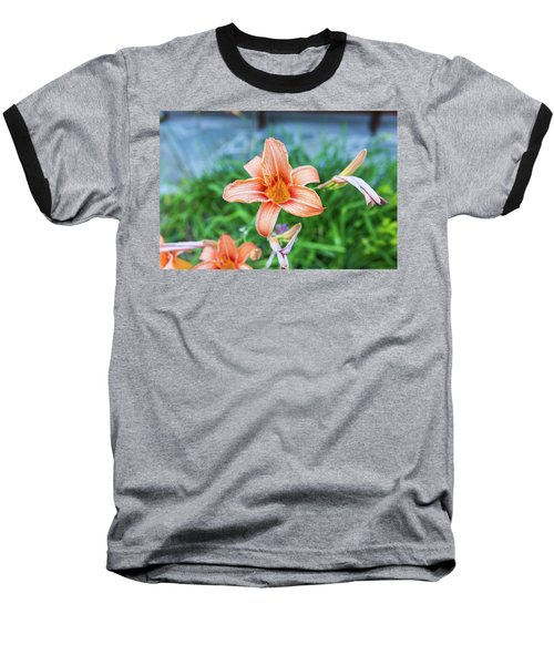 Orange Daylily Baseball T-Shirt