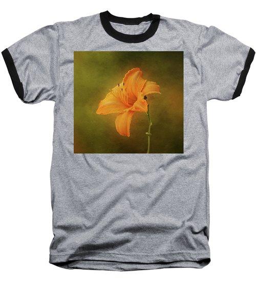 Orange Daylily Baseball T-Shirt