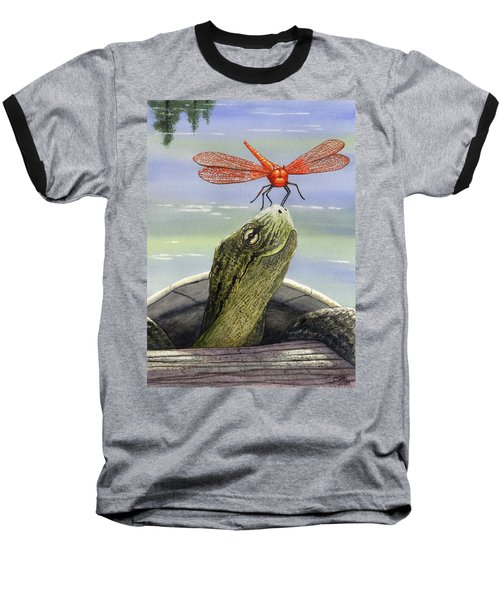 Orange Dragonfly Baseball T-Shirt