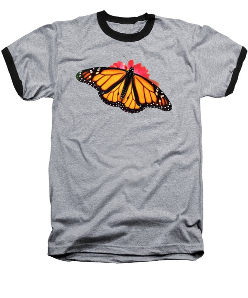 Baseball T-Shirt featuring the photograph Orange Drift Monarch Butterfly by Christina Rollo