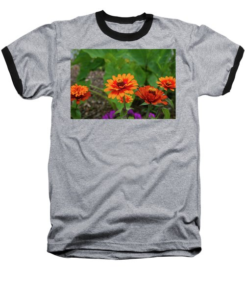 Baseball T-Shirt featuring the photograph Orange Flowers by Cathy Harper