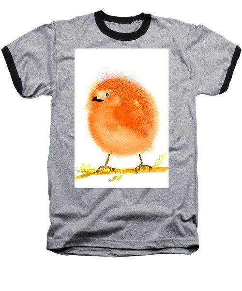 Orange Fluff Baseball T-Shirt
