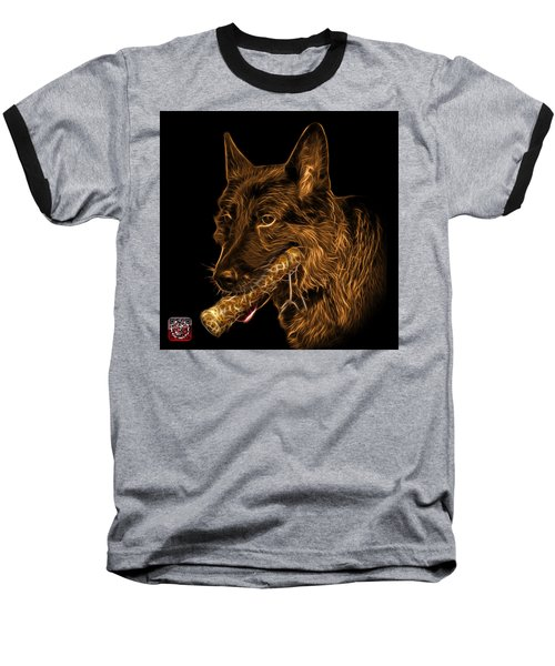 Orange German Shepherd And Toy - 0745 F Baseball T-Shirt