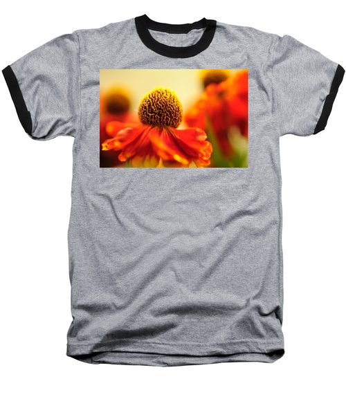 Baseball T-Shirt featuring the photograph Orange Glow. Rudbeckia Macro by Jenny Rainbow