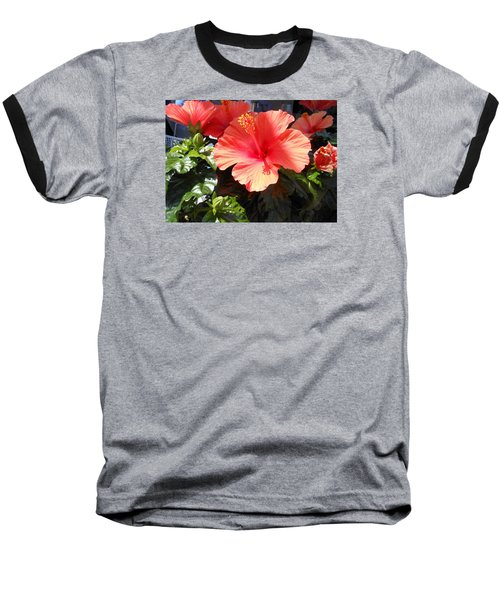 Baseball T-Shirt featuring the photograph Orange Hibiscus by Kay Gilley