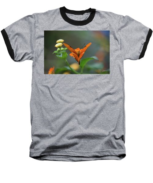 Orange Is The New Butterfly Baseball T-Shirt