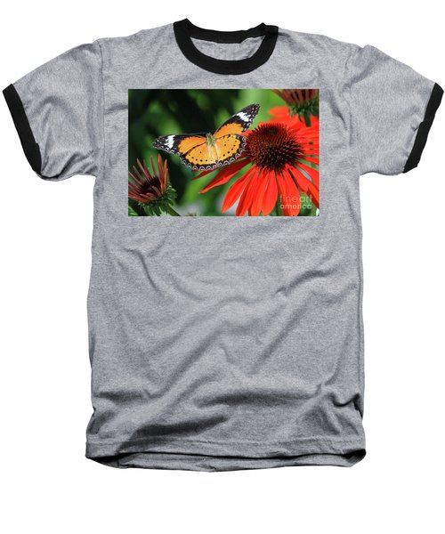 Orange Lacewing Baseball T-Shirt