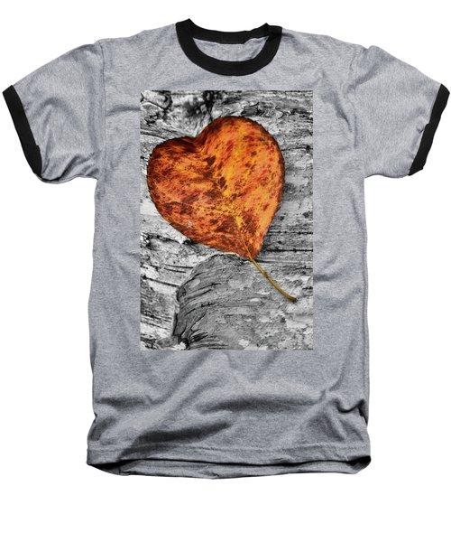 Orange Leaf Baseball T-Shirt