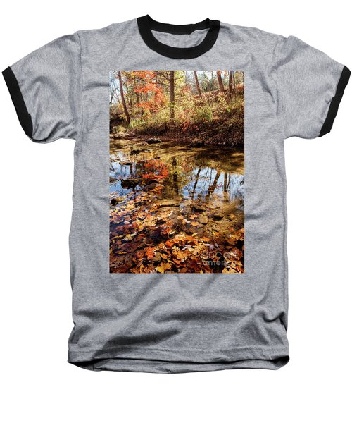 Orange Leaves Baseball T-Shirt