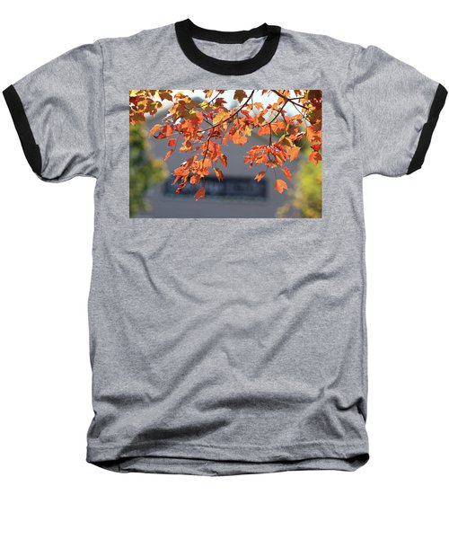 Orange Leaves Of Autumn Baseball T-Shirt